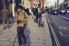 All in one (madbharat) Tags: street woman sun black london leather piccadilly jeans gloves suede skintight madbharat