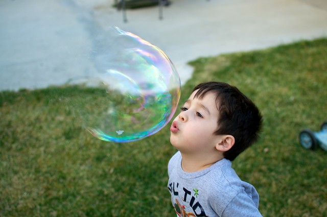 Bubbles - elias in the ACT of popping