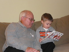Reading with Grandpop