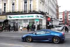Blue Horse. (Alex Penfold) Tags: auto camera blue london cars alex sports car sport mobile canon photography eos photo cool flickr image south awesome side flash profile picture super ferrari spot exotic photograph spotted hyper kensington panning scuderia supercar spotting exotica sportscar 2012 sportscars f430 supercars 430 penfold scud spotter hypercar 60d hypercars alexpenfold