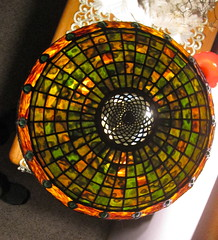 16in custom stained glass shade (Doug Goodenough) Tags: art glass lamp doug craft hobby stained shade rippled custom jewels tiffany febuary 2012 mottled artsandcrafts goodenough uroboros greeh douggoodenough drg53111s201216shade drg531stainedglass