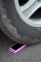 Day 77 Phone under Car Auto Tire