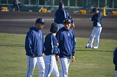 DSC_0717 (mechiko) Tags: 120205 横浜ベイスターズ 山口俊 荒波翔 横浜denaベイスターズ 2012春季キャンプ