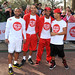 Jonathan Gill aka JB, Marvin Humes, Oritse Williams and Aston Merrygold of JLS Sainsbury's Sport Relief Mile 2012 - London