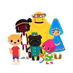 Toca House characters (Toca Boca) (Toca Boca) Tags: house playing game kids illustration digital children fun toy design graphics education ipod play cleaning learning household boca playful washing chores app apps iphone toca ipad