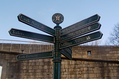 York sign post