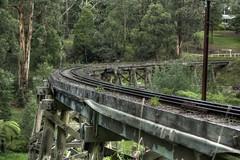 Monbulk Creek Trestle Bridge HDR (stuARTfoto) Tags: trestle bridge creek train 35mm nikon australia f18 hdr steamtrain 2012 belgrave mountdandenong puffingbilly monbulk d90 nikond90 kliktphoto monbulkcreektrestlebridge
