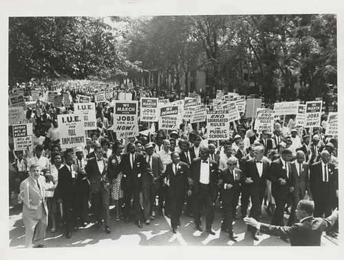 March on Washington for Jobs and Freedom, Martin Luther King, Jr. and J