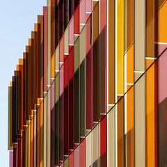 UK - Oxford - Biochemistry Building 04 v2 sq (Darrell Godliman) Tags: uk greatbritain travel england copyright abstract color colour building tourism glass architecture facade nikon lab colorful europe university britishisles unitedkingdom britain squares eu oxford squareformat laboratory gb uni colourful fin sq oxforduniversity modernarchitecture oxfordshire fins allrightsreserved oxon architecturalphotography universityofoxford contemporaryarchitecture travelphotography bsquare researchlab sciencearea instantfave omot travelphotographer oxforduni flickrelite dgphotos darrellgodliman wwwdgphotoscouk hawkinsbrown biochemistrydepartment d300s dgodliman biochemistrybuilding nikond300s ukoxfordbiochemistrybuilding04v2sqdsc3761