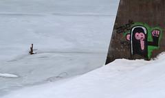 Klaus (Been Around) Tags: schnee winter lake snow ice graffiti austria see sterreich europa europe niceshot hiver travellers eu february eis inverno klaus obersterreich autriche 2012 februar austrian aut stausee o  upperaustria yabbadabbadoo 5photosaday a hauteautriche concordians thisphotorocks steyrriver worldtrekker visipix bezirkkirchdorf expressyourselfaward klausersee flickrunitedaward bauimage diesteyr klausanderpyhrnbahn stauseeklaus bezirkkirchdorfanderkrems