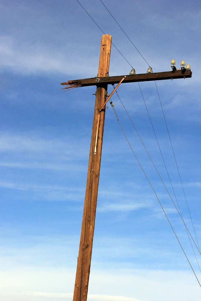 My Continuing Obsession With Power Poles-Broken (Barstow Steve) Tags:  cactus crazy