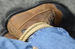 DSC_0251 (jakewolf21) Tags: work boots bondage rope jeans tied dakota hogtied