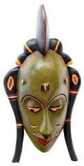 10Y_0911 (Kachile) Tags: art mask african tribal côtedivoire primitive ivorycoast gouro baoulé nativebaoulémasksaremainlyanthropomorphicmeaningtheydepicthumanfacestypicallytheyarenarrowandfemininelookingincomparisontomasksofotherethnicitiesoftenfeaturenohairatallbaouléfacemasksaremostlyadornedwithvarioustrad