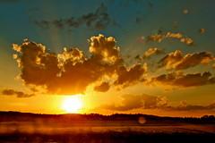 Alabama Sky (heatspine) Tags: sunset sky sun canon evening twilight sundown dusk fineart alabama lensflare ethereal nightfall sunsetsky sunflare artisticphotography unconventional amazingsunset amazingsky goldsky alabamasunset closeofday lensflaresunset goldclouds heatspine heatspinephotography canon5dmarkiicanonphotographycanonphotosoriginalphotographybestofflickrbestphotographyrawmostinterestingnevergrowupvintagefunphotos abstractphotographyinterestingphotography