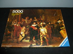 "5000 piece puzzle, ""The Nightwatch,"" by Rembrandt, Ravensburger, (West) Germany. (Billsville Mike) Tags: night germany watch collection puzzle jigsaw 5000 piece rembrandt nightwatch ravensburger"