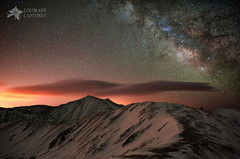 Lenticular Mountain Milky Way (Mike Berenson - Colorado Captures) Tags: sky mountain mountains weather night clouds stars colorado alpine rockymountains stacking fourteener cupid allrightsreserved lovelandpass lightpollution milkyway arapahoebasin grizzlypeak grayspeak torreyspeak Astrometrydotnet:status=failed coloradocaptures copyright2012bymikeberenson nighttimesnowshoetrekabovetimberline Astrometrydotnet:id=alpha20121196174711