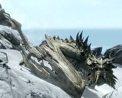 2012-04-18_00004 - Paarthurnax (tend2it) Tags: world game beautiful fire pc screenshot dragon view shot character xbox battle v rpg elder throat breathing scrolls ps3 skyrim tesv