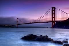 Golden Gate Bridge from Fort Baker (tobyharriman) Tags: pictures sanfrancisco ca bridge sunset toby seascape canon landscape photography golden photo gate san francisco long exposure photographer baker pics fort designer 7d harriman filters tobyharriman