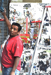 Construction Worker (tacosnachosburritos) Tags: street city portrait people urban woman man guy girl work mexico grit photography thestreets cafe district tequila neighborhood liquor drinks colonia federal condesa