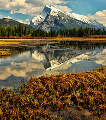 Mount Rundle Reflected (Jeff Clow) Tags: mountrundle albertacanada banffnationalpark vermilionlakes