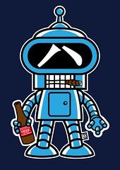 Camiseta Bender Futurama Dr.UEEE (Dr.UEEE camisetas originales/ original tshirts) Tags: original design funny tshirt bender diseño camiseta tees camisetas divertida