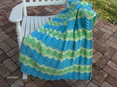 Ripple Baby Blanket (cafland) Tags: ripple afghan rippleafghan babyrippleafghan