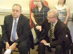 "First Minister Alex Salmond and I at a constituency event • <a style=""font-size:0.8em;"" href=""http://www.flickr.com/photos/78019326@N08/6981883101/"" target=""_blank"">View on Flickr</a>"
