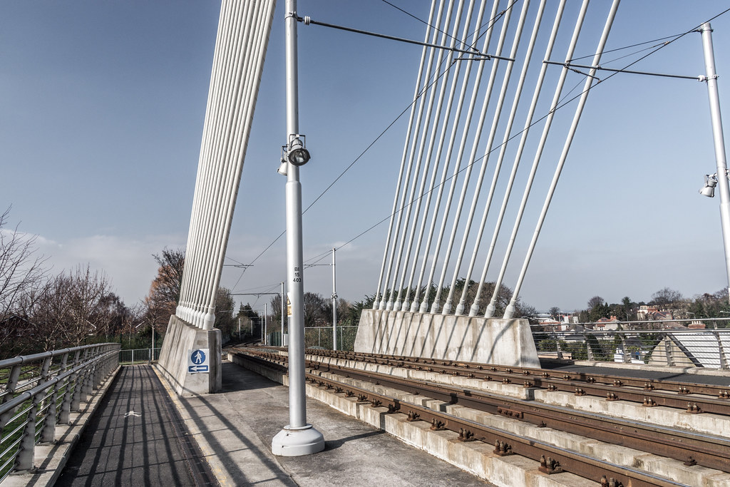William Dargan Bridge, opened in 2004, is a cable-stayed bridge in Dundrum