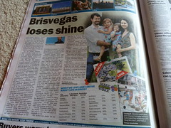 Brisvegas loses shine (Grenzeloos1) Tags: newspaper australia brisbane brisvegas liveablecities