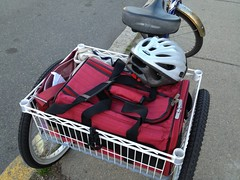 There's a cat in that bag. Promise. (erica_g) Tags: pet bike trike cargobike cargotrike