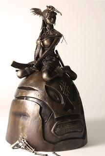 threeA - Rufus Dayglo SOLID GOLD DEATH MASK 1/6仿青銅雕像