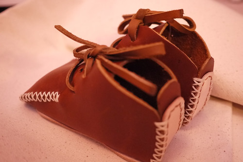 Handmade leather toddler shoe by cindy kuo
