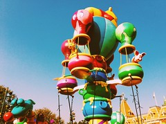 Disneyland (ttmnhi) Tags: blue sky cute hongkong big disneyland cartoon winniethepooh besttimeoflife