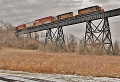 WE614 Over Sudan Viaduct. (W&LE45) Tags: railroad trestle train pittsburgh trains division rook railroads sd402 pwv hiline wle rookyard wheelinglakeerie wheelinglakeerierailway pittsburghwestvirgina