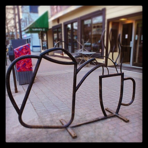 Cool Whitehorse #bikerack #No.4 #coffee #yxy #yukon