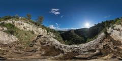 Necropolis of Pantalica (HamburgerJung) Tags: panorama pentax fisheye sicily sicilia k3 hugin sizilien equirectangular da1017 necropolisofpantalica