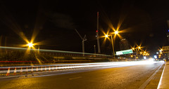 Roads of London (8 of 18) (johnlinford) Tags: city longexposure england urban london night landscape lights poplar unitedkingdom 7d gb docklands canonefs1022 canoneos7d