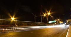 Roads of London (8 of 18) (johnlinford) Tags: city longexposure england urban london night landscape lights poplar unitedkingdom 7d gb docklands canonefs1022 canoneos7d