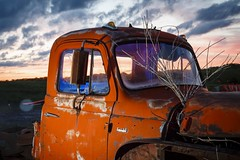 Sunset Truck (Notley) Tags: light sunset red sky lightpainting tree abandoned night clouds truck evening midwest rearviewmirror pickuptruck missouri april bluehour redlight nocturne 2016 10thavenue notley ruralphotography ruralusa overtonmissouri notleyhawkins coopercountymissouri missouriphotography httpwwwnotleyhawkinscom notleyhawkinsphotography