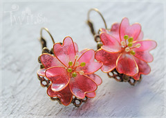 earrings Sakura_1 (twinsika) Tags: polymerclay sakura earrings jewerly