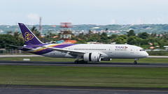 HS-TQB - Thai Airways International - Boeing 787-8 Dreamliner (bcavpics) Tags: bali plane indonesia airplane aircraft aviation boeing airliner denpasar dps 787 ngurahrai 788 dreamliner thaiairwaysinternational wadd bcpics hstqb