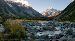 Mount Cook River Panorama (Panorama Paul) Tags: sunset newzealand panorama mountcook aoraki hookervalley nikkorlenses nikfilters hookerriver nikond800 wwwpaulbruinscoza paulbruinsphotography