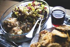 LisaJohannaThiele_Fooding_2101 (Spiegel Eule) Tags: food foodporn aubergine kche cornflakes glutenfree paniert veggieschnitzel