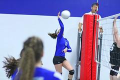 IMG_1553 (SJH Foto) Tags: school girls net club high team jump shot action teens battle teenager spike midair volleyball block tweens