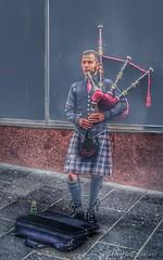 Glasgow Piper (FotoFling Scotland) Tags: beard scotland kilt unitedkingdom glasgow pipes buchananstreet gb piper tartan bagpipe sporran meninkilts naeknickers
