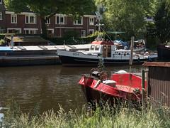 Reitdiep met schepen (Jeroen Hillenga) Tags: netherlands nederland groningen reitdiep wilhelminakade