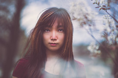 Stop and Stare (ICameraU Photography) Tags: flowers portrait people selfportrait nature spring bokeh blossoms