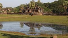 North Library; Angkor Wat (asitrac) Tags: travel archaeology nature water pond scenery asia cambodia southeastasia angkorwat scene unescoworldheritagesite unesco kh siemreap archeology worldheritage indochina  patrimoinemondial siemreapprovince khmerempire angkorarcheologicalpark angkorarchaeologicalpark  asitrac