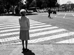crosswalk (frolik2001) Tags: street city urban bw blancoynegro blackwhite calle sevilla flickr streetphotography ciudad seville bn explore urbana fujifilm conceptual crosswalk isolated pasodecebra callejeo urbanlifeinmetropolis aislado artinbw frolik2001 x100t eduardoaponce
