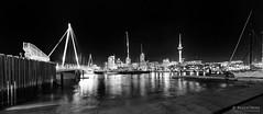 20160504-07-Viaduct Harbout pano (Roger T Wong) Tags: travel newzealand blackandwhite bw panorama water monochrome night buildings reflections mono pano viaduct auckland nz 2016 ptgui sony2470 rogertwong sel2470z sonyfe2470mmf4zaosscarlzeissvariotessart sonya7ii sonyilce7m2 sonyalpha7ii